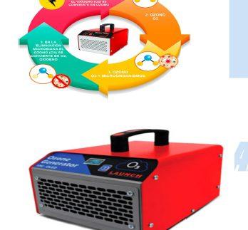 Generador portátil de ozono