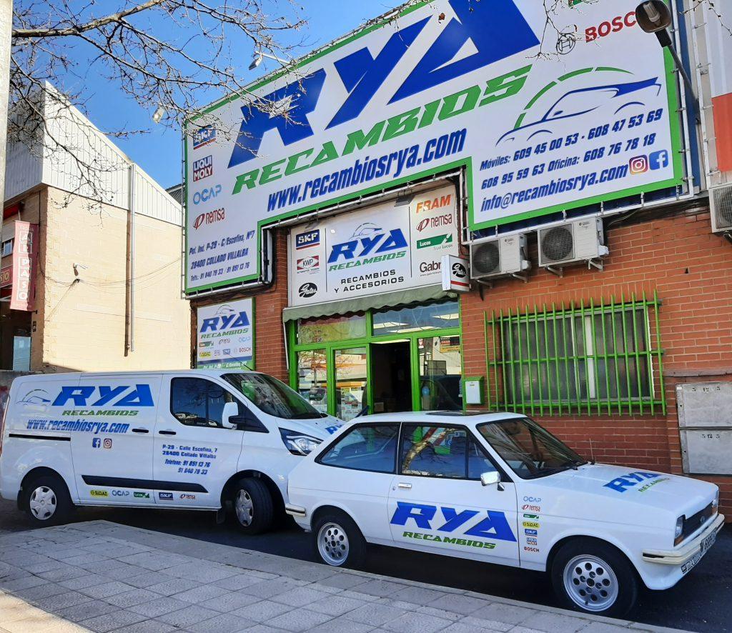 Fachada de Recambios RYA en Collado Villalba